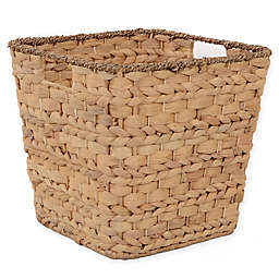 Relaxed Living Tapered Water Hyacinth 11-Inch Storage Basket