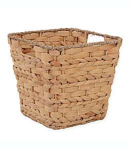 Canasta cuadrada ORG de jacinto de agua, 33 cm