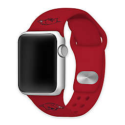 University of Arkansas Apple Watch® 42MM/44MM Short Silicone Band in Red