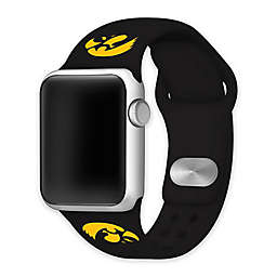 University of Iowa Apple Watch® Short Silicone Band in Black