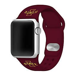 Iowa State University Apple Watch® Short Silicone Band in Maroon