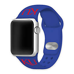 University of Kansas Apple Watch® Short Silicone Band in Blue