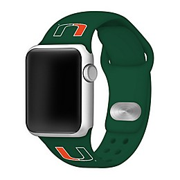 University of Miami Apple Watch® Short Silicone Band in Green