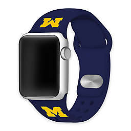 University of Michigan Apple Watch® Short Silicone Band in Navy