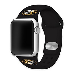 University of Missouri Apple Watch® Short Silicone Band in Black