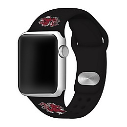 University of South Carolina Apple Watch® Short Silicone Band in Black