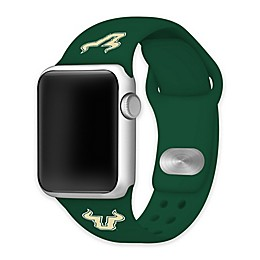 University of South Florida Apple Watch® Short Silicone Band in Green