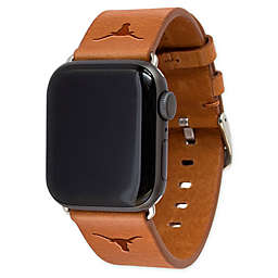 University of Texas-Austin Apple Watch® Short Leather Band in Tan