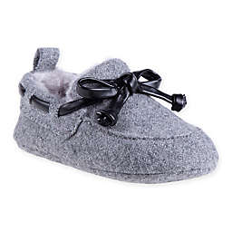 Stepping Stones Faux Fur Lined Slipper in Grey