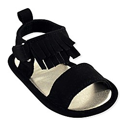 Luvable Friends® Fringe Sandal in Black