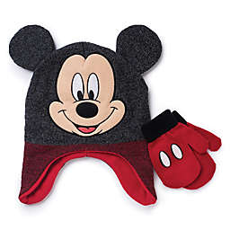 Disney® Toddler Mickey Mouse 2-Piece Hat and Mitten Set in Black