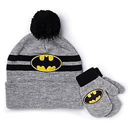 Batman™ Toddler 2-Piece Hat and Mitten Set in Grey