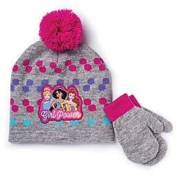 Disney® 2-Piece Princess Hat and Mitten Set in Grey