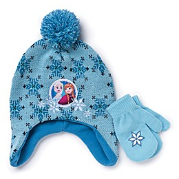 Disney® 2-Piece Frozen Hat and Mitten Set in Teal