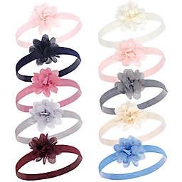 Hudson Baby® 10-Count Flower Headbands
