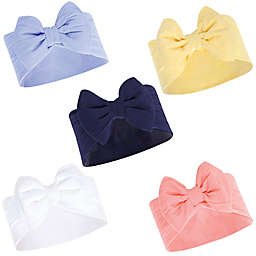 Hudson Baby® 5-Pack Big Bow Headbands in Blue/Yellow