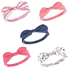Hudson Baby® 5-Piece Knotted Jersey Headbands
