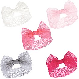 Hudson Baby® 5-Piece Lace Headbands