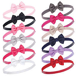 Hudson Baby® 12-Count Petite Bow Headbands