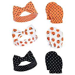 Hudson Baby® 6-Piece Pumpkin Headband and Scratch Mitten Set in Orange
