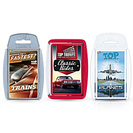 Planes, Trains and Automobiles Top Trumps 3-Piece Card Game Bundle