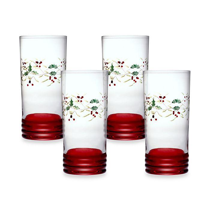 Alternate image 1 for Pfaltzgraff® Winterberry Cooler Glasses (Set of 4)