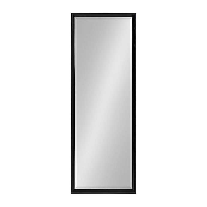 Alternate image 1 for Kate and Laurel™ Calter 17.5-Inch x 49.5-Inch Full Length Wall Mirror in Black