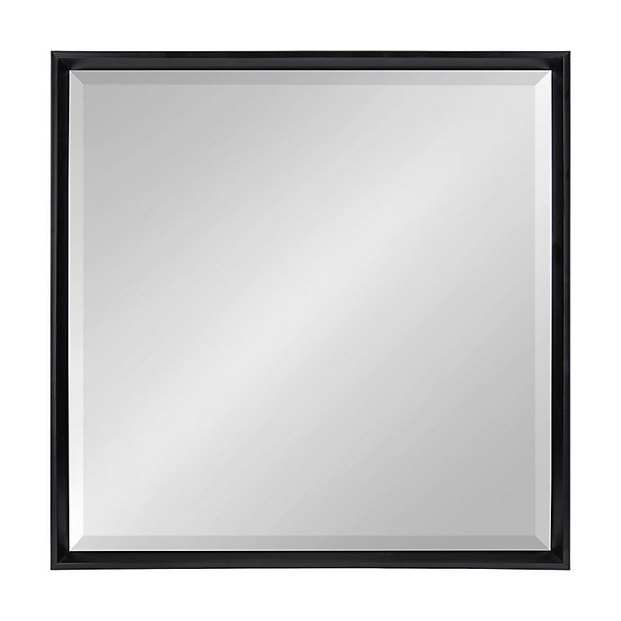 Alternate image 1 for Kate and Laurel™ Calter 29.5-Inch Square Wall Mirror in Black