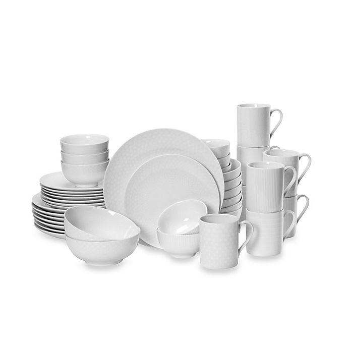Alternate image 1 for Mikasa® Cheers White 40-Piece Dinnerware Set