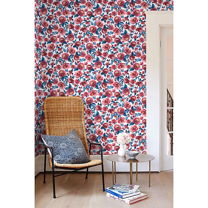 Veronica Peel Stick Vinyl Removable Wallpaper In Red Blue Bed Bath Beyond