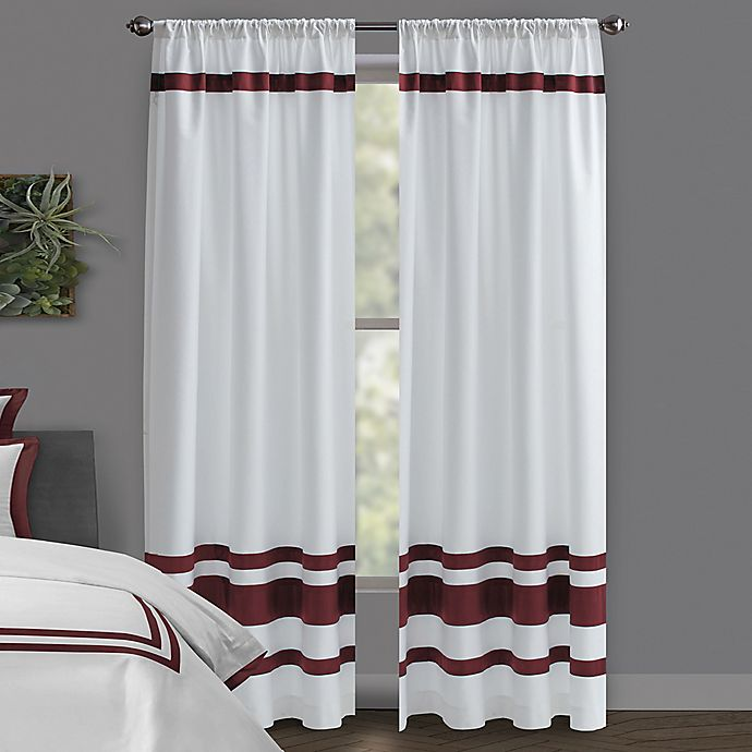 Alternate image 1 for Wamsutta® Hotel Rod Pocket/BackTab 100% Blackout Window Curtain Panel in White