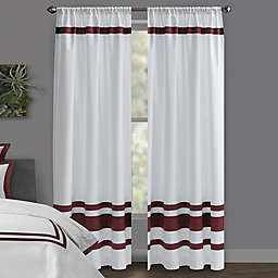 Wamsutta® Hotel Rod Pocket/BackTab Blackout Window Curtain Panel in White