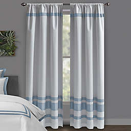 Wamsutta® Hotel 95-Inch Rod Pocket/BackTab 100% Blackout Window Curtain Panel in White/Slate