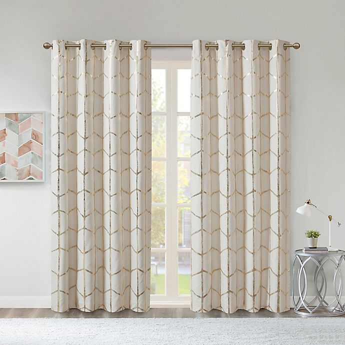 Alternate image 1 for Intelligent Design Raina 100% Blackout Grommet Window Curtain Panel