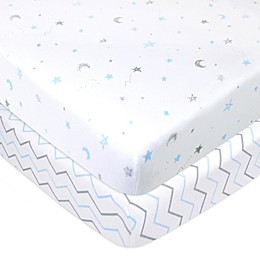 TL Care® Cotton Jersey Fitted Mini-Crib Sheets (2-Pack)