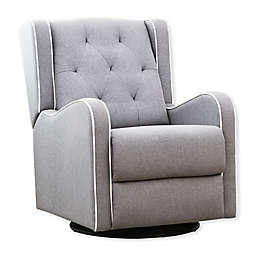 Abbyson Living® Everly Tufted Fabric Swivel Chair