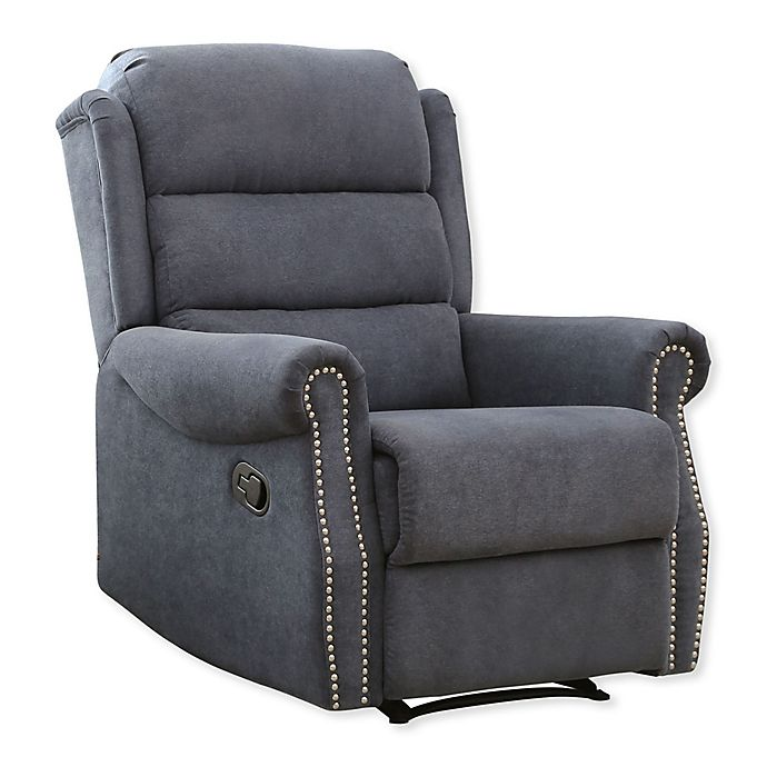Admirable Abbyson Living Liam Fabric Recliner Bed Bath Beyond Gmtry Best Dining Table And Chair Ideas Images Gmtryco