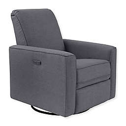 Westwood Design Aspen Swivel Power Glider and Recliner with Built in USB in Stone