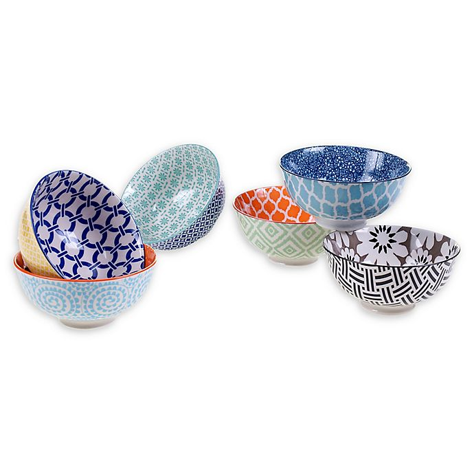 Alternate image 1 for Certified International Chelsea Mix and Match 4.75-Inch Cereal Bowls (Set of 6)