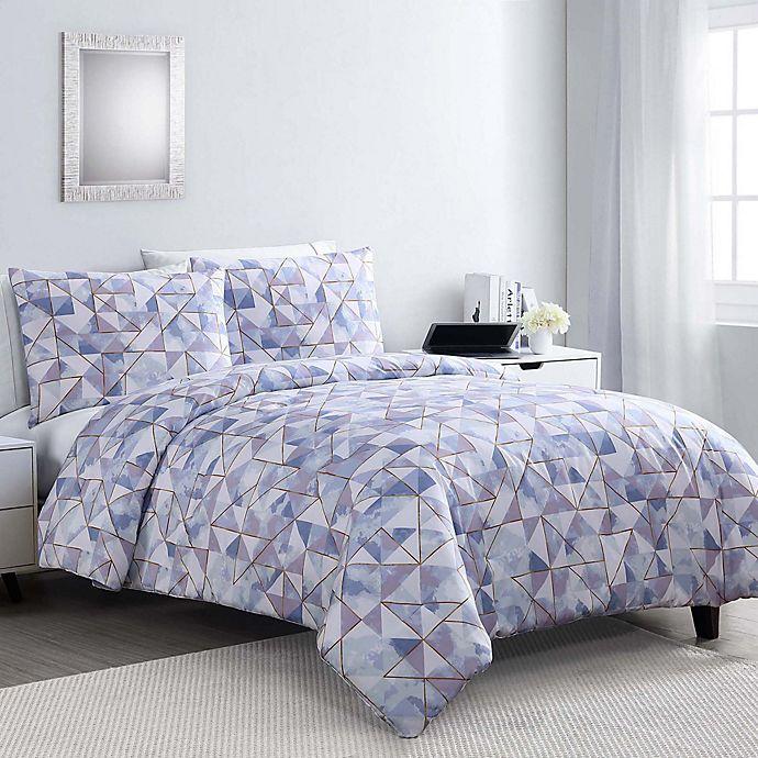 Alternate image 1 for VCNY Home Sky Geo Glam 3-Piece Comforter Set
