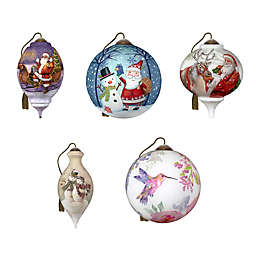 Ne'Qwa Art® Hand-Painted Christmas Ornament Collection