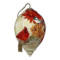 Ne'Qwa Art® Christmas Meadow Cardinal 5.5-Inch Hand-Painted Ornament
