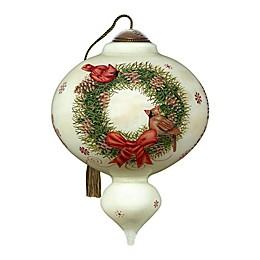 Ne'Qwa Art® Joyeux Noel Cardinals 5.5-Inch Hand-Painted Ornament