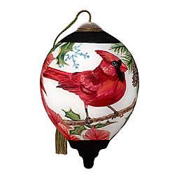 Ne'Qwa Art® Festive Friend Cardinal 3-Inch Hand-Painted Ornament