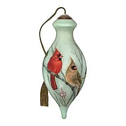 Ne'Qwa Art® Cardinals in Sumac 4-Inch Hand-Painted Ornament