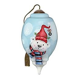Ne'Qwa Art® Feeling Festive Polar Bear 3-Inch Hand-Painted Ornament