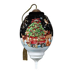 Ne'Qwa Art® Winter Wonder Forest Friends 5.5-Inch Hand-Painted Ornament