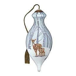 Ne'Qwa Art® First Winter Deer and Fawn 4-Inch Hand-Painted Ornament