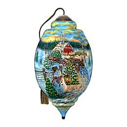 Ne'Qwa Art® Limited Edition Christmas Tree Farm 6.75-Inch Hand-Painted Ornament