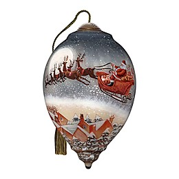 Ne'Qwa Art® Up, Up, And Away Santa Claus 5.5-Inch Hand-Painted Ornament